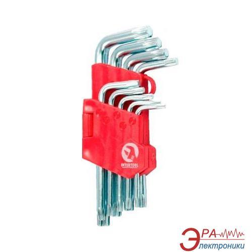 Набор Torx ключей Intertool Т10-Т50, 9 шт (HT-0607)