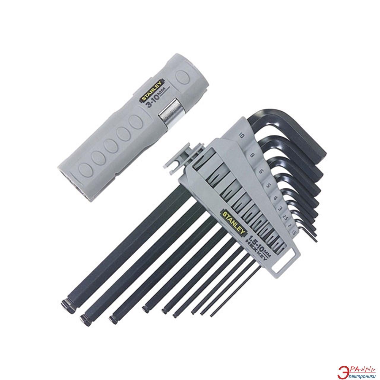 Набор шестигранных ключей Stanley HEX GRIP 9 шт. (0-89-904)