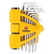 Набор шестигранных ключей TOPEX 1.5-10 mm 13 шт. (35D970)