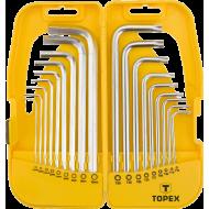Набор HEX и Torx ключей TOPEX 18 шт (35D953)