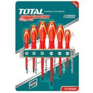 Набор отверток Total для электрика, 6 шт (THTIS566)