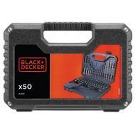 Набор бит, сверел Black&Decker 50 предметов (A7217)