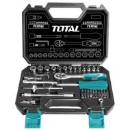 Набор инструментов Total 1/4, 45 предметов (THT141451)
