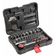 Набор торцевых головок, трещотка Top Tools 3/8, 63 ед. (38D515)