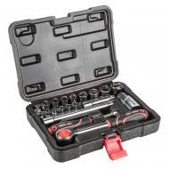 Набор торцевых головок, трещотка Top Tools 1/4, 3/8 20 ед. (38D520)