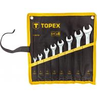 Набор ключей накидной TOPEX 6-19 mm, 8 шт. (35D759)