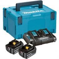 Аккумулятор к электроинструменту Makita LXT BL1850B x 2шт + зарядное DC18RD, кейс Makpac3 (197629-2)