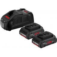 Аккумулятор + зарядное устройство Bosch 2x ProCORE18V 4.0Ah (1.600.A01.6GF)