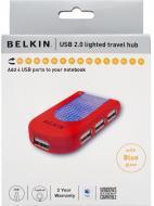 USB HUB Belkin Lighted Travel Hub (F5U034ERRED)