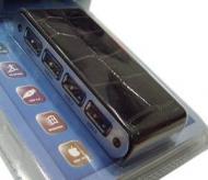USB HUB Lapara LA-UH410-B black