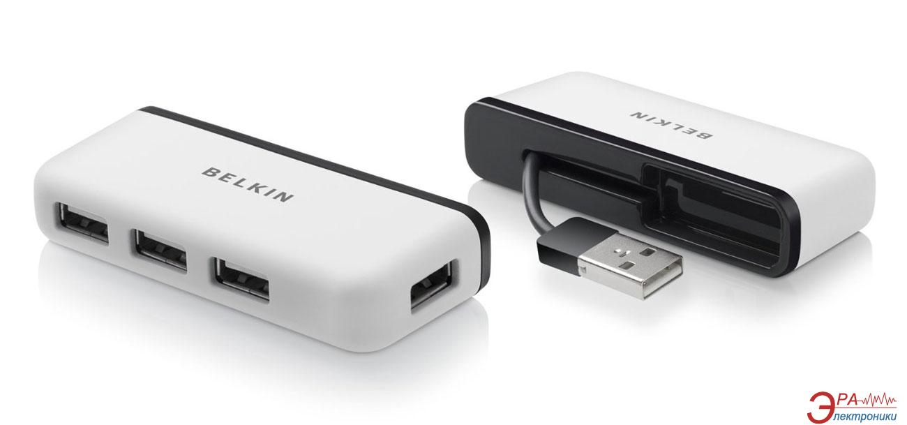 USB HUB Belkin USB 2.0 Travel Hub 4 порта без БП White (F4U021bt)