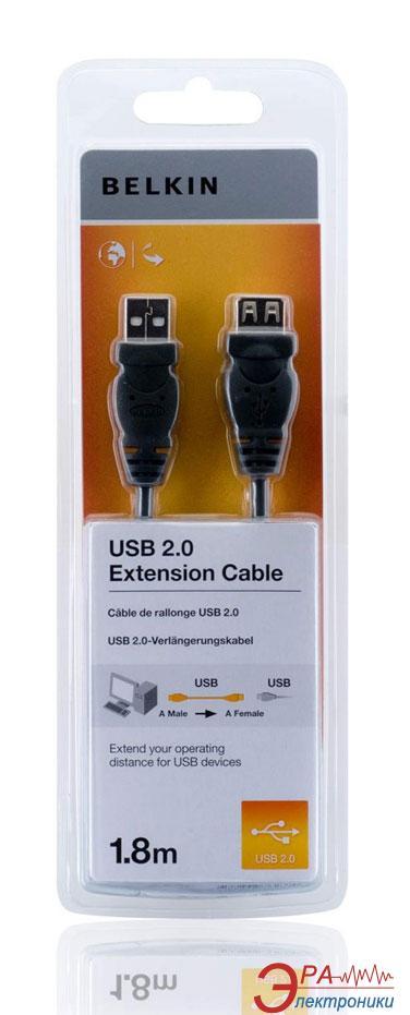 Кабель Belkin USB 2.0 (AM/AF) 1.8m Black (F3U153CP1.8M)