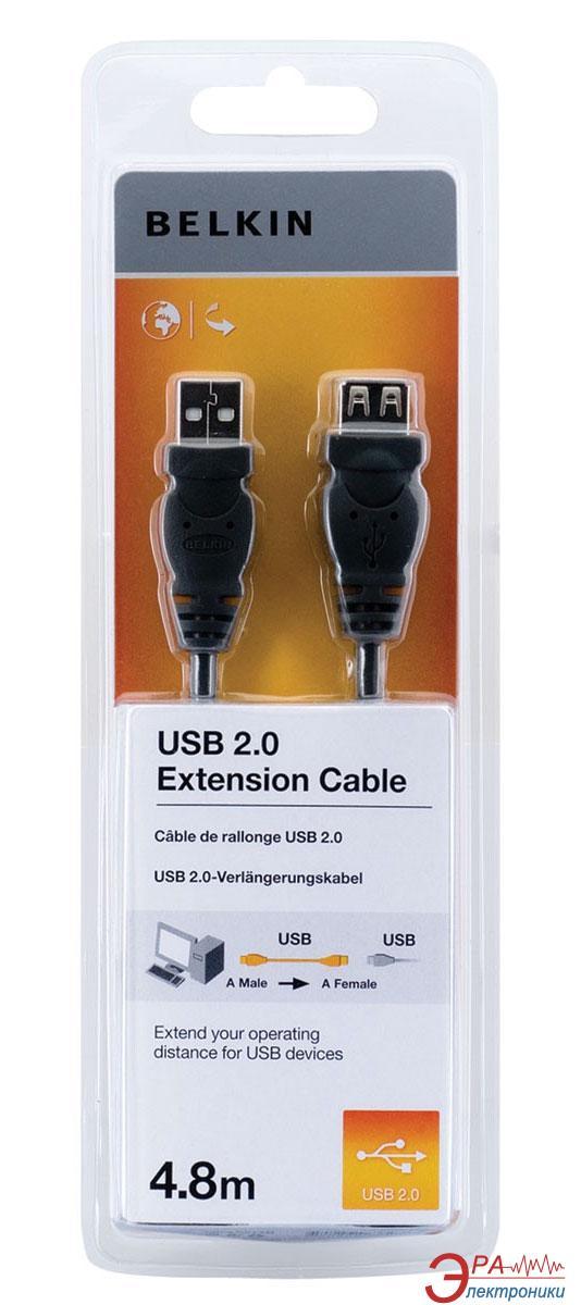 Кабель Belkin USB 2.0 (AM/AF) 4.8m Black (F3U153cp4.8M)