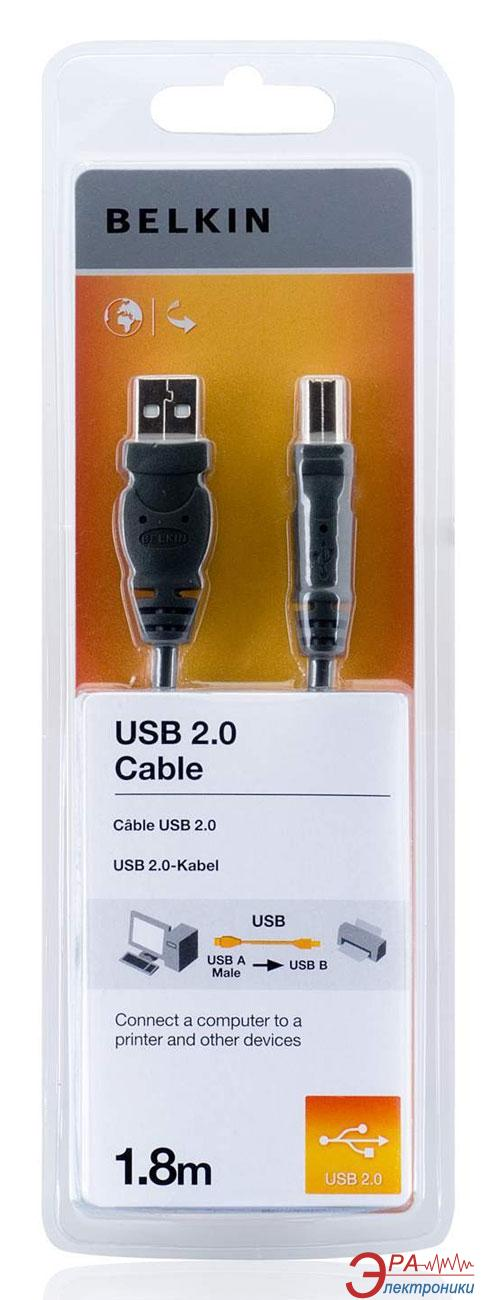 Кабель Belkin USB 2.0 (AM/BM) 1.8m Black (F3U154CP1.8M)