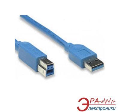 Кабель Atcom USB 3.0 AM/BM 1.8m blue (12823)