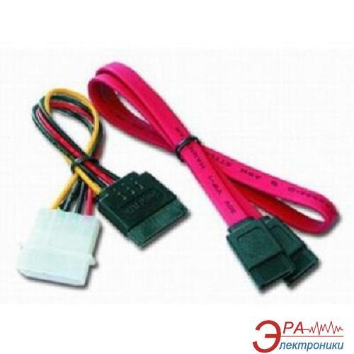 Кабель Gembird SATA data 48cm + SATA power 15cm (CC-SATA)