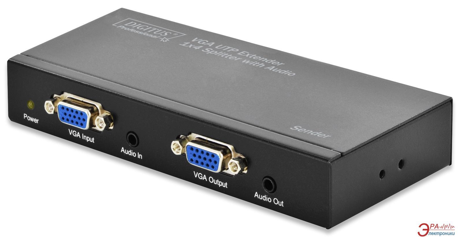 Переходник Digitus 2-port extender over UTP 300m Black (DS-53420)