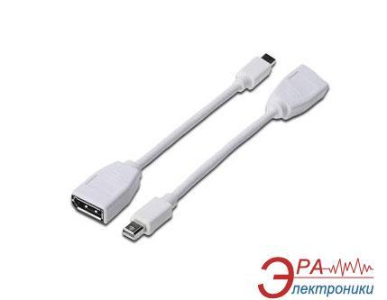 Переходник Digitus miniDisplayPort to DisplayPort (AM/AF) 0.15m white (31201)