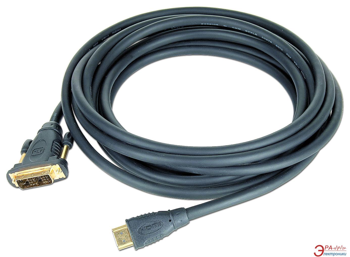 Кабель Gembird HDMI to DVI 18+1pin M 10.0m (CC-HDMI-DVI-10MC)