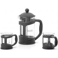 Френч-пресс Bialetti 0.8L + 2 чашки 200ml Black (0004652)