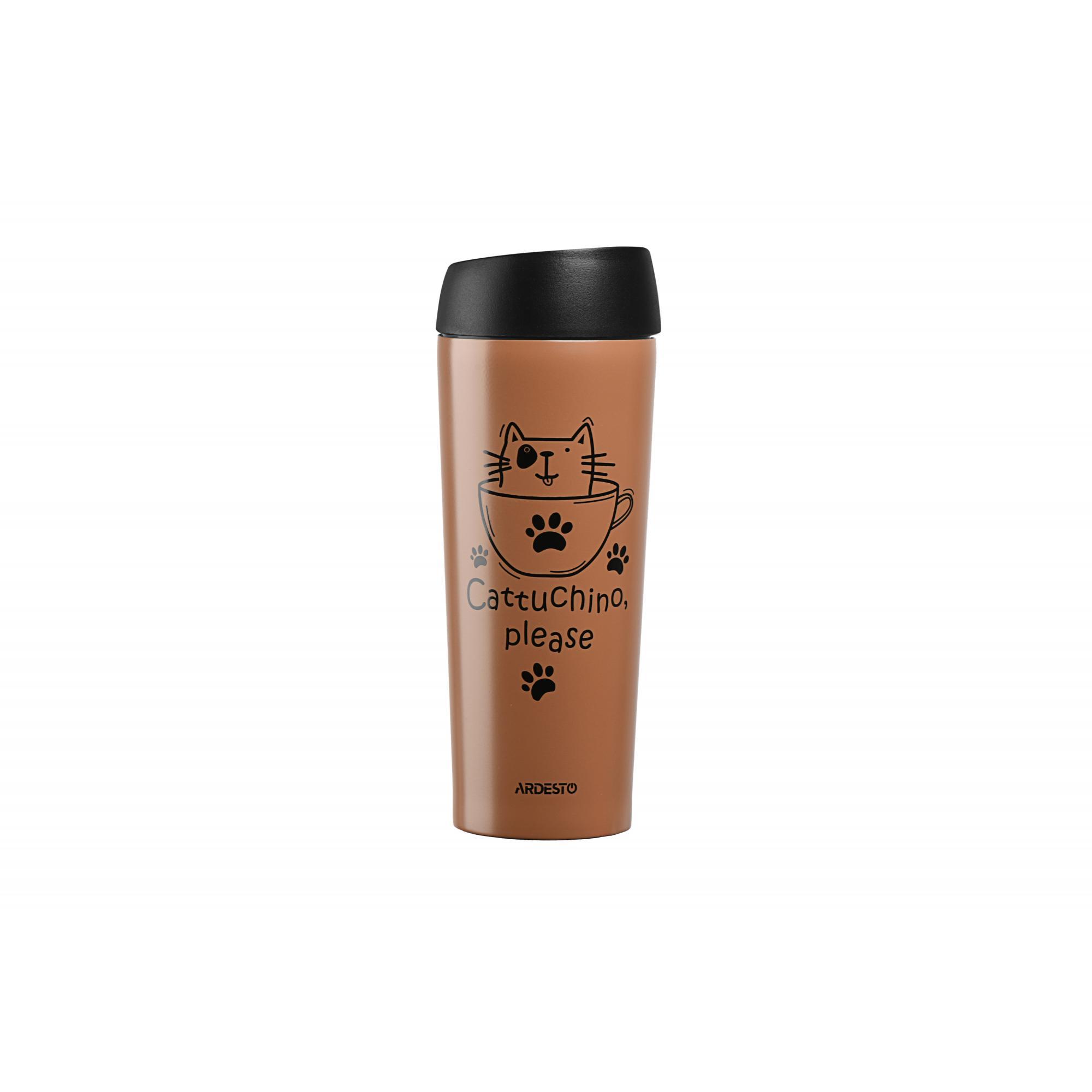 Термокружка Ardesto Coffee time Cat 450 ml (AR2645DMM) за 297 грн   интернет-магазин Эра Электроники