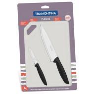 Набор ножей Tramontina PLENUS black 3пр. (23498/014)