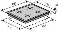 Варочная поверхность Ventolux HG640-T1G CEST (WH)