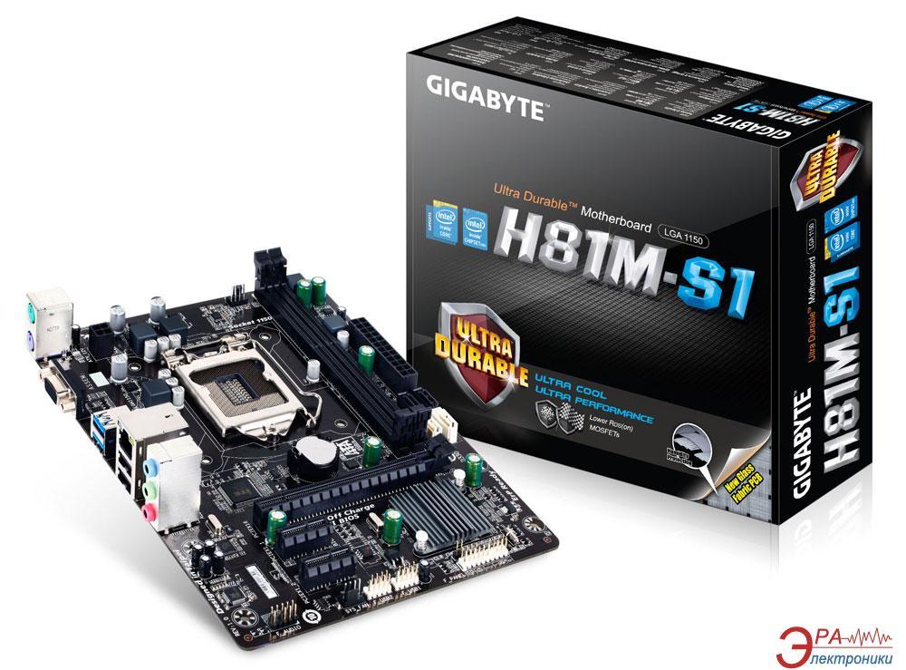 Материнская плата Gigabyte GA-H81M-S1