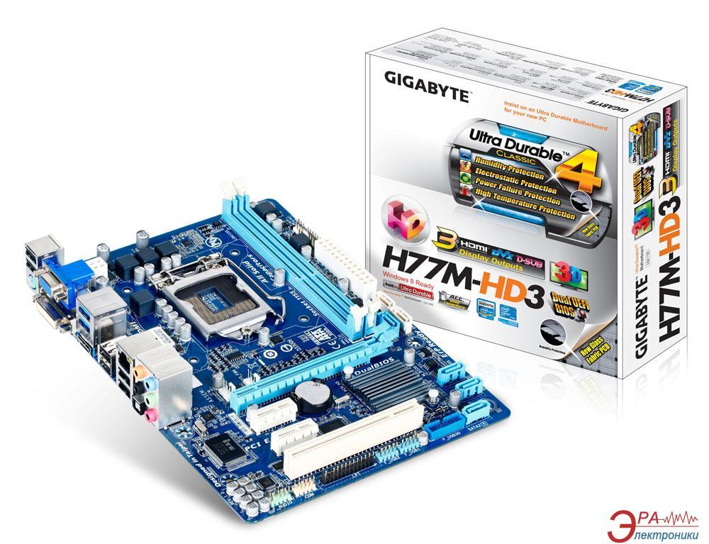 Материнская плата Gigabyte GA-H77M-HD3