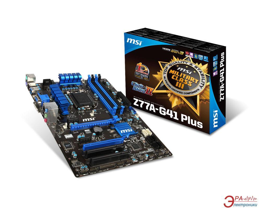 Материнская плата MSI Z77A-G41 Plus