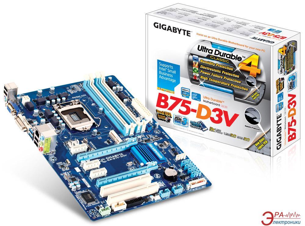 Материнская плата Gigabyte GA-B75-D3V Bulk