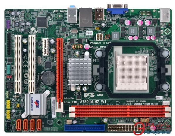 Материнская плата Elitegroup ECS A780LM-M2 Socket AM3