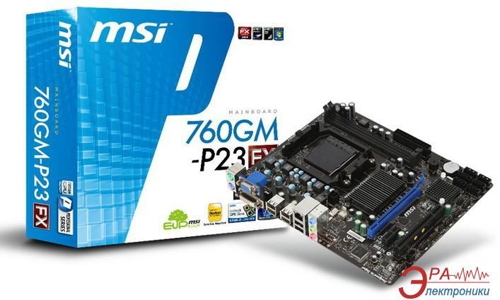 Материнская плата MSI 760GM-P23 (FX) Bulk Socket AM3