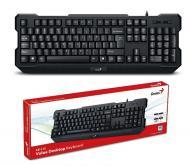 Клавиатура Genius KB-210 USB Black Ukr (31310473104)