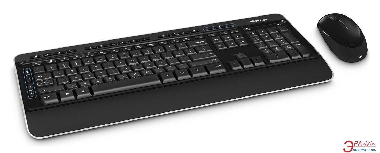 Комплект (клавиатура, мышь) Microsoft WL Blue Track Desktop 3050 Ru Ret (PP3-00018)