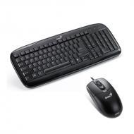 Комплект (клавиатура,мышь) Genius SlimStar C110 PS/2 BB (31330192127)