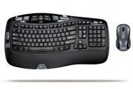Комплект (клавиатура,мышь) Logitech Cordless Desktop Wave (920-000275)