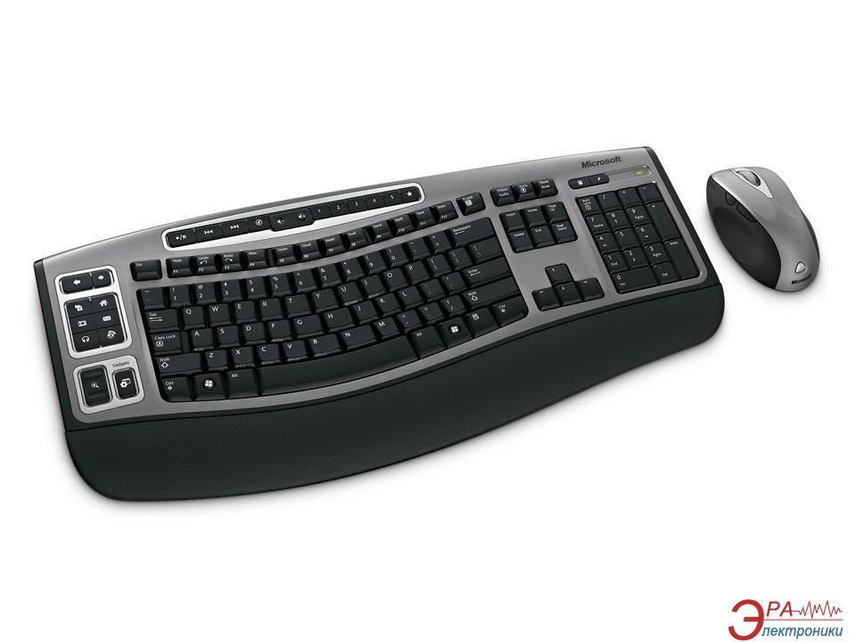 Комплект (клавиатура,мышь) Microsoft Wireless Laser Desktop 6000 v2 RU Ret (69A-00022)