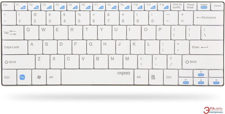 Клавиатура Rapoo Wireless Compact Ultra-slim Keyboard E9050 White