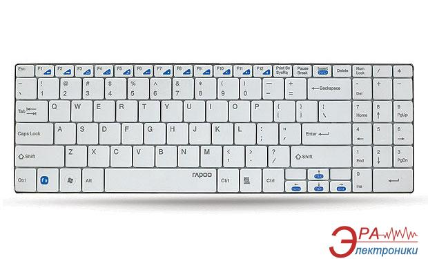 Клавиатура Rapoo Wireless Ultra-slim Keyboard E9070 White