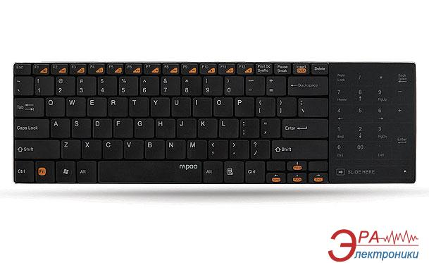 Клавиатура Rapoo Wireless Touchpad Keyboard E9080 Black