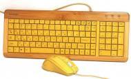 Комплект (клавиатура,мышь) Gembird KB-001-RUA Bambook