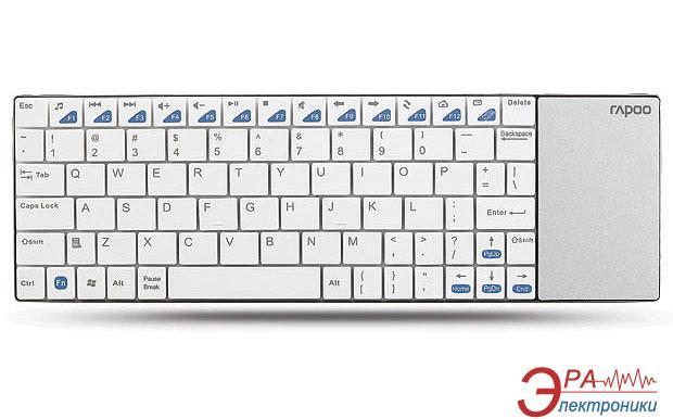 Клавиатура Rapoo Wireless Multi-media Touchpad Keyboard E2700 White