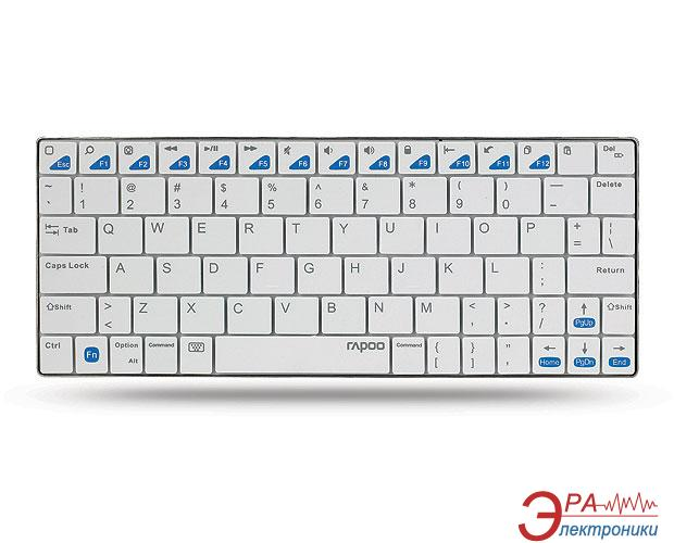Клавиатура Rapoo BT Ultra-slim Keyboard for iPad E6300 White