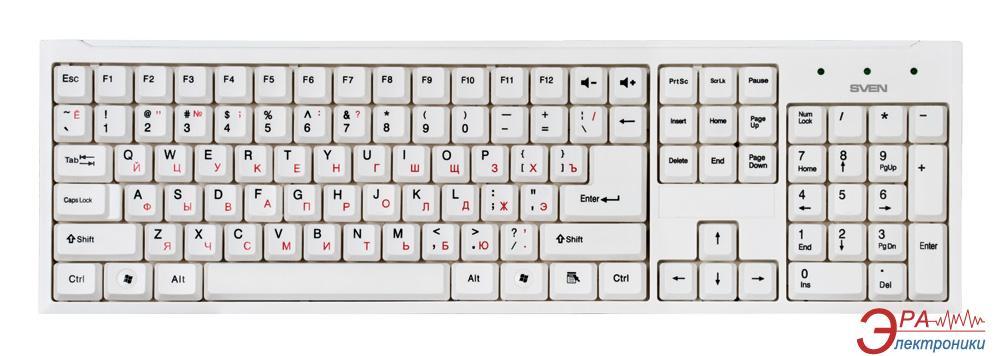 Комплект (клавиатура,мышь) Sven Standard 310 Combo USB White