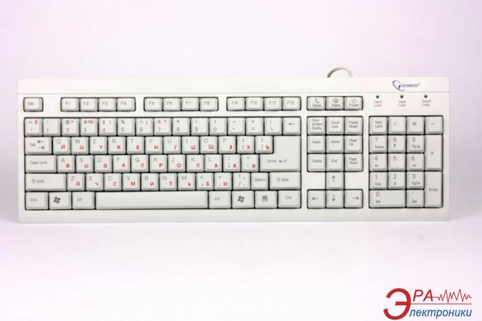 Клавиатура Gembird KB-8300U-UA White (KB-8300U-UA)
