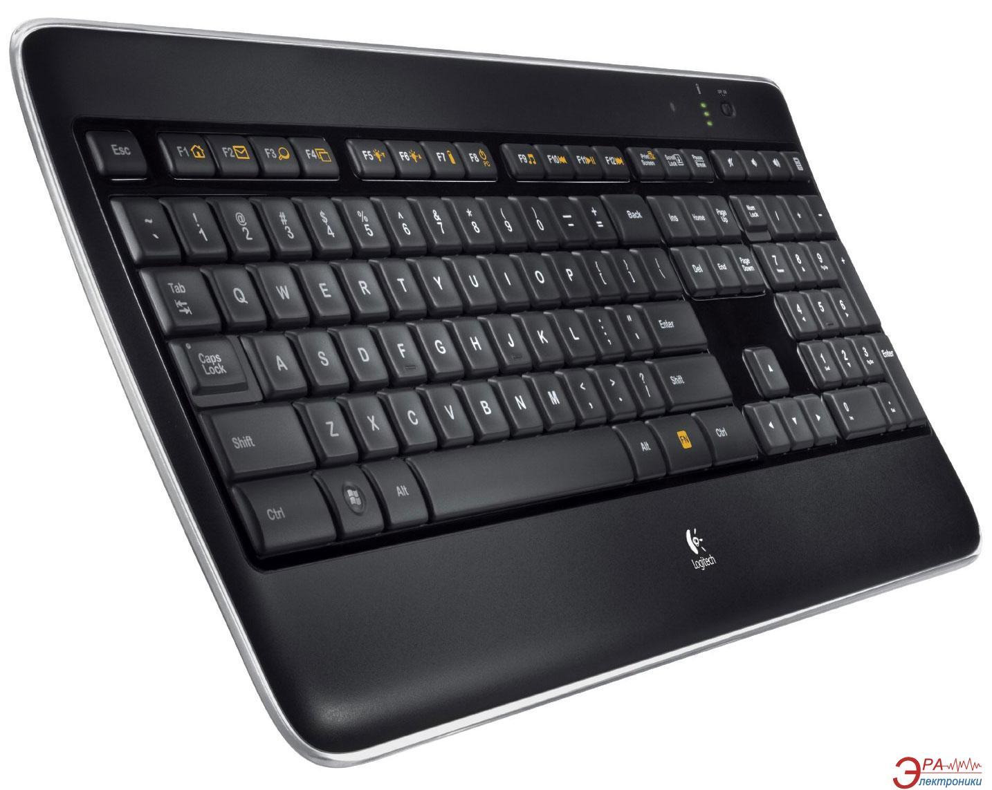 Клавиатура Logitech Wireless Illuminated Keyboard K800 (920-002395)