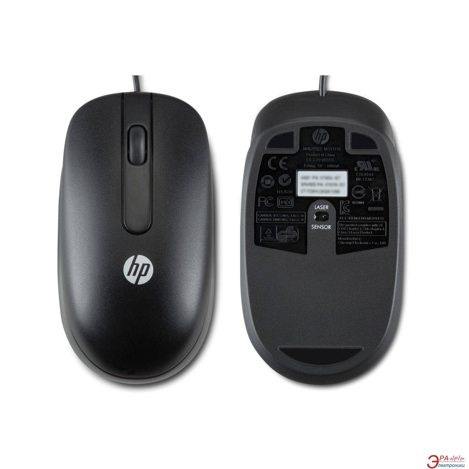 Мышь HP USB 1000dpi (QY778AA) Black