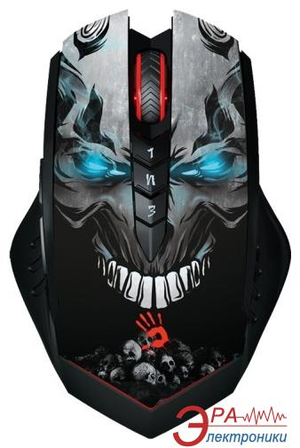 Игровая мышь A4 Tech R8 Bloody Skull Design USB V-Track Black