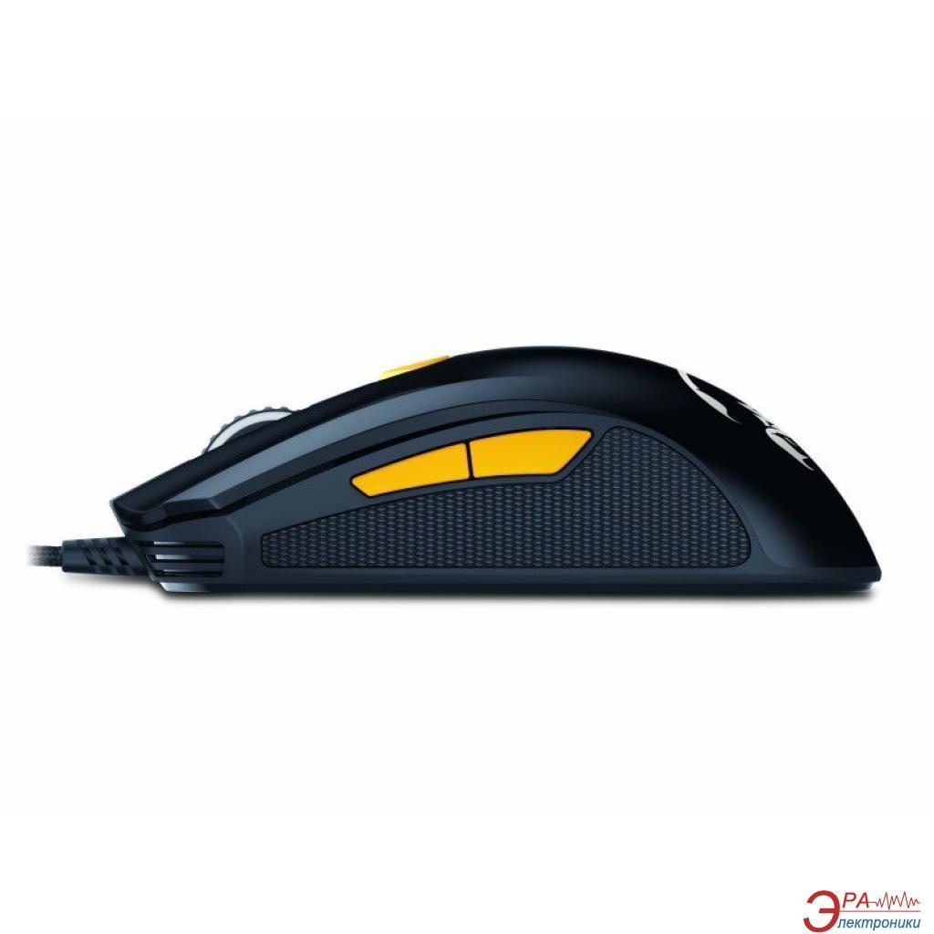 Мышь проводная Genius M8-610 чёрный оранжевый USB